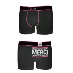 Boxer J&M en coton - Noir 2
