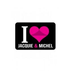 Plaque de porte I love J&M