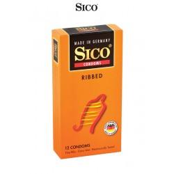 12 préservatifs Sico RIBBED