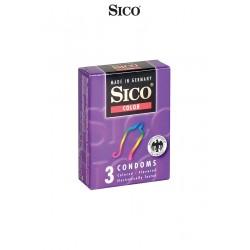 3 préservatifs Sico COLOUR