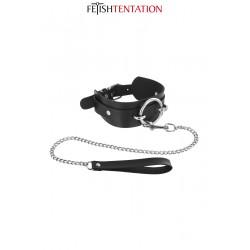 Collier avec anneau & laisse - Fetish Tentation