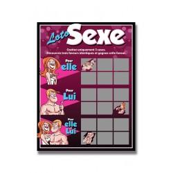 Carte à gratter Loto sexe