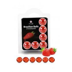 6 Brazilian Balls - fraise