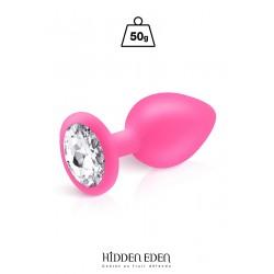 Plug bijou silicone rose M - Hidden Eden