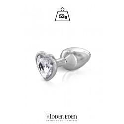Plug bijou coeur aluminium S - Hidden Eden