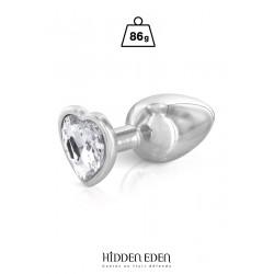 Plug bijou coeur aluminium M - Hidden Eden