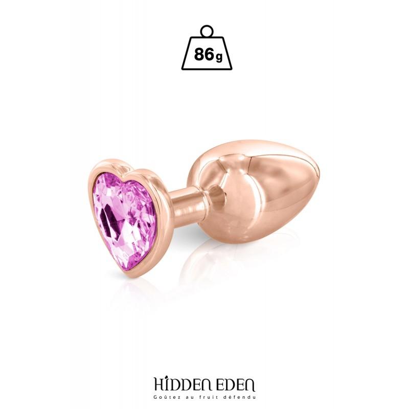 Plug bijou coeur aluminium rose gold M - Hidden Eden