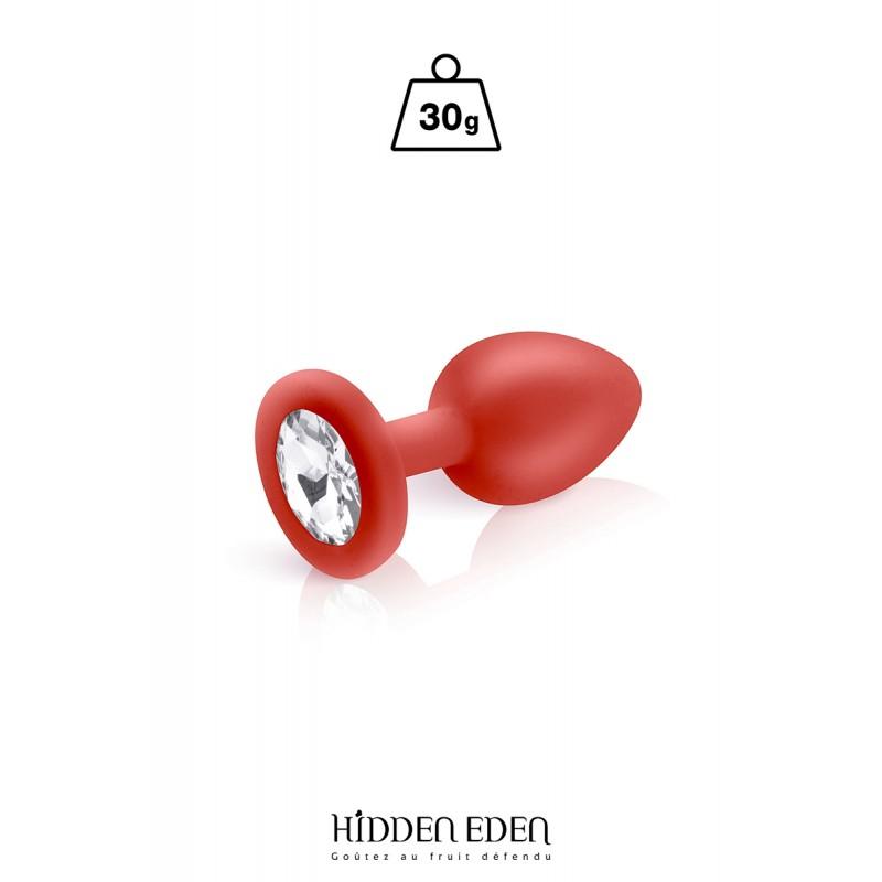 Plug bijou silicone rouge S - Hidden Eden