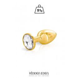 Plug bijou aluminium gold S - Hidden Eden