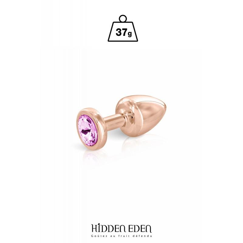 Plug bijou aluminium rose gold XS - Hidden Eden