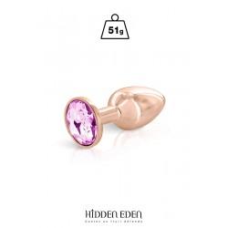 Plug bijou aluminium rose gold S - Hidden Eden
